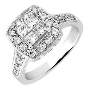 VINTAGE STYLE DIAMOND ENGAGEMENT RING & WEDDING BAND