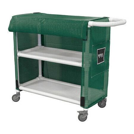 "Royal Basket Truck G32-Eex-L2a-3Uln Pvc Linen Cart,32"",2 Shelf,Green"