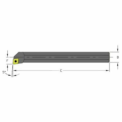 Ultra-dex Usa A08m Sclcl2 Indexable Boring Bar A08m Sclcl2 6 In L High Speed