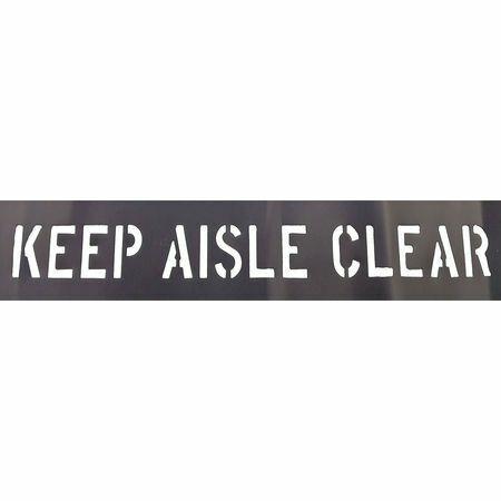 Zoro Select 20Y546 Keep Aisle Clear Stencil