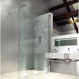 Merlyn 8 Series Shower Wall 700mm Wetroom Panel PLUS JT Fusion 1200 x 800mm Rectangle Shower Tray