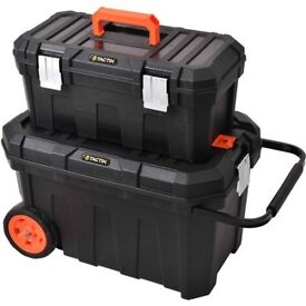 BRAND NEW UNUSED Tactix 2-In-1 Rolling Tool Box Set