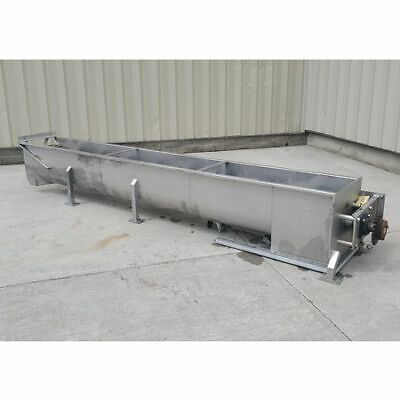 Used 18 Dia. X 13 Long Mtc Stainless Screw Auger Conveyor - Model Mtcs-18-13