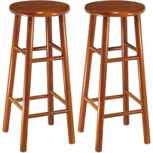 NEW Set of 2 Winsome Solid Wood Barstool (open box) PU1