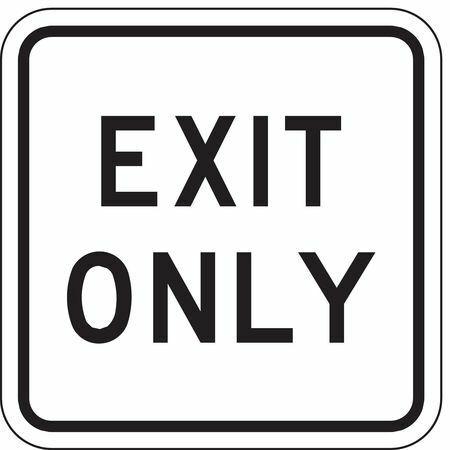 Lyle Lr7-68-18Ha Traffic Sign,18 X 18In,Bk/Wht,Exit Only