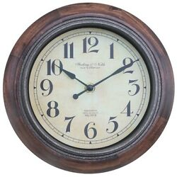 BETTER HOMES AND GARDENS 8.75 RUSTIC WOOD CLOCK W