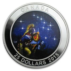 RCM Silver Glow-in-the-Dark Coin: Star Charts--The Quest