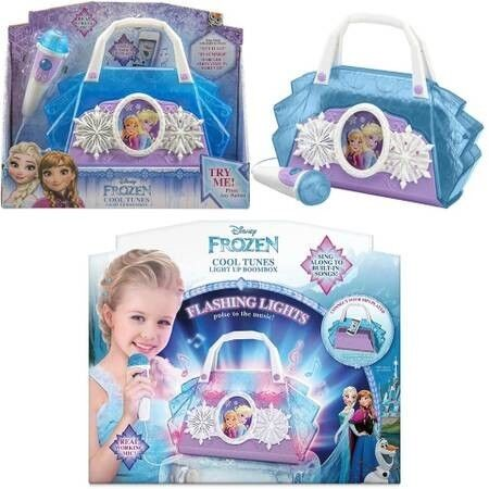 BNIB: Disney Frozen Anna & Elsa Cool Tunes Sing Along Boombox With Microphone With Built In Tunes