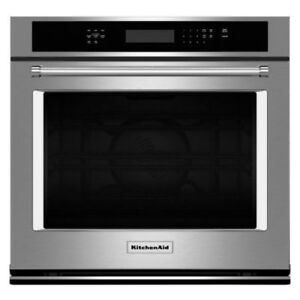 """KITCHENAID 27"""" STAINLESS STEEL ELECTRIC SINGLE WALL OVEN"""