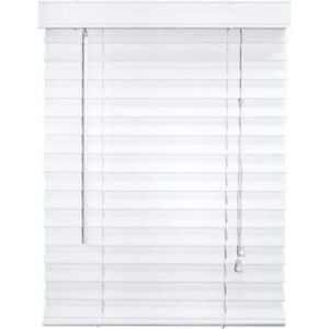 Faux Wood Blind, White