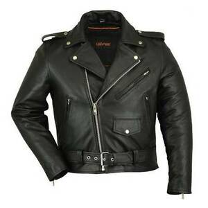 Classic Buffalo Hide Leather Motorcycle Jacket