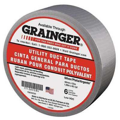 Zoro Select 26vc84 Duct Tape48mm X 55msilver6 Mil