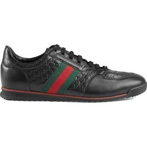 Gucci Sl73 Gg Embossed Leather Sneaker