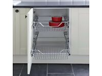 Pullout wire baskets for 500 kitchen units