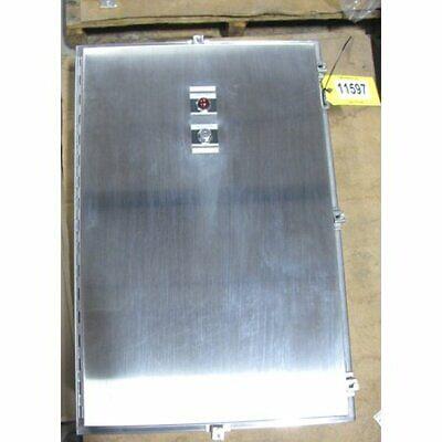 Surplus Hoffman Cat A36h2408sslp Stainless Steel Nema 4x Enclosure Cabinet