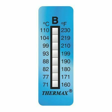 Thermax 80609 Non-Rev Temp Indicator,Pk10