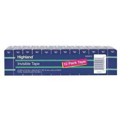 Highland 6200k12 Invisible Tape0.75 In.w X 28 Yd.lpk12