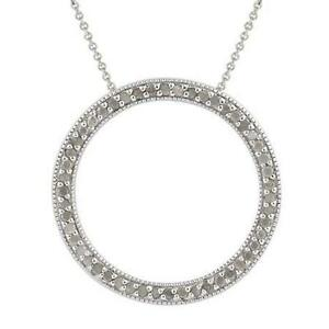 Diamond circle pendant ebay diamond eternity circle pendants aloadofball Gallery