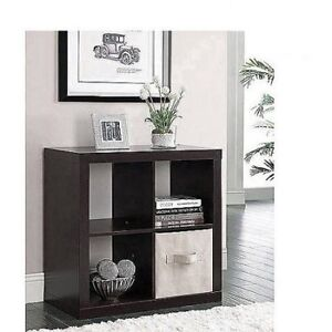 New in box Home Trends 4 Cube Expresso Shelf