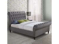 Upholstered double bed frame