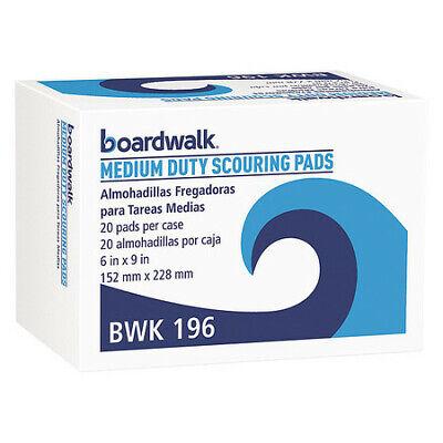 BOARDWALK BWK196 Duty Scour Pad,Green,6