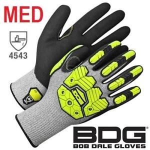 NEW BOB DALE SYNTHETIC GLOVES MED 99-1-9790-8 201316958 SIZE 8 COATED SAFETY WORK GLOVES 1 PAIR