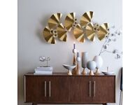 Gorgeous brass wallart