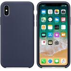 Hoogwaardige Silicone iPhone X / XS Case Cover Hoes Donkerbl