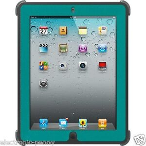 NEW  OTTERBOX  DEFENDER SERIES CASE COVER FOR NEW IPAD 3 / 2 Harbor (Teal)