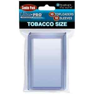 Ultra Pro TOBACCO CARD top loaders - with SLEEVES - bundle of 10