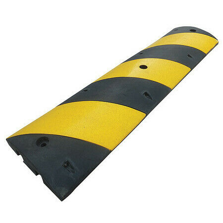 ZORO SELECT 29NH35 Speed Bump,12in.W,2-1/4in.H,72in.L,Rubbr