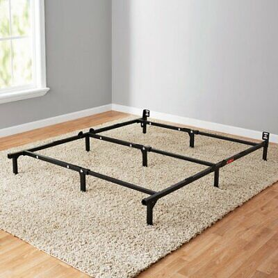 """Mainstays 7"""" Adjustable Bed Frame Black Steel"""