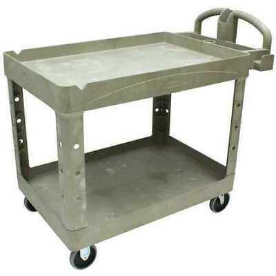 Rubbermaid Fg452088beig Structural Foam Utility Cart With Deep Lipped Plastic