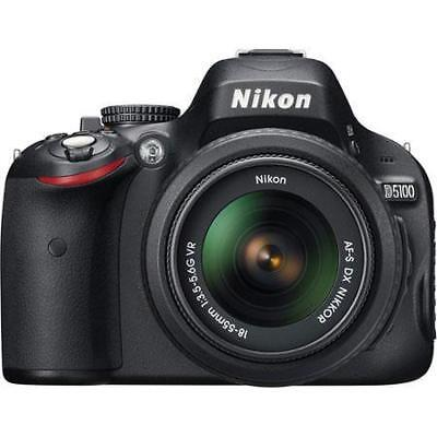 Nikon D5100 16.2 MP Digital SLR w/18-55mm DX VR -Refurbished by Nikon- #25478 B