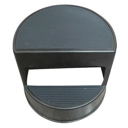 Zoro Select 5M656 2 Steps, Plastic Step Stool, 350 Lb. Load Capacity, Black