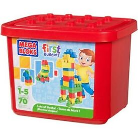 MEGA BLOKS FIRST BUILDERS 70 PIECE BOX NEW £10