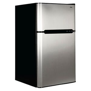 BLOWOUT !  Haier Stainless 2-door 3.2 cu.ft. Bar Fridge