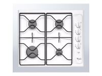 MAGNET WHIRLPOOL 4 RING WHITE GAS HOB FOR KITCHEN GREAT CONDITION BETTER THAN HOTPOINT BOSCH