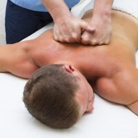 Strong fit male offering free massage to men