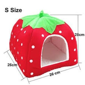 Small Strawberry Pet Bed
