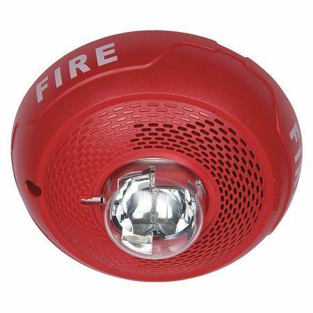 System Sensor Spscrl Speaker Strobe,Speaker Strobe,Red