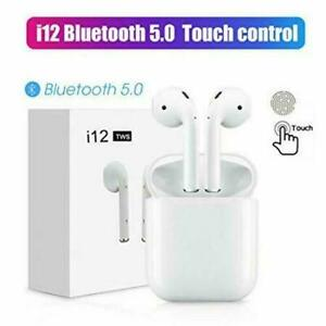 Brand New i12 TWS AIRPODS BLUETOOTH V5.0 TOUCH CONTROL LISTEN MU