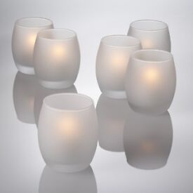 FROSTED CANDLE HOLDERS - PERFECT FOR WEDDING AND PARTY CENTERPIECE OR DECORATION