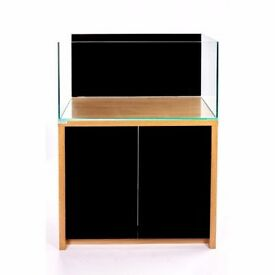 Bargain in ClearSeal Edgeline Freshwater 600 aquarium/fish tank + cabinet