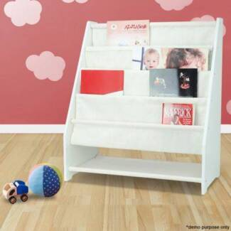5 Level Tier Childrens Canvas Magazine Rack BookShelf Display