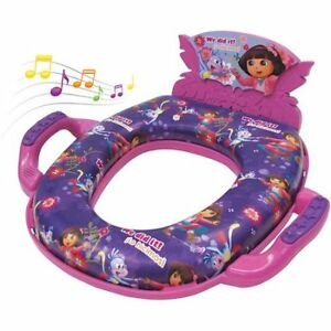 NEW!! Nickelodeon Dora the Explorer Deluxe Soft Potty Seat Sound