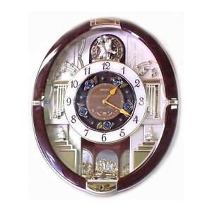 seiko melodies in motion musical wall clock qxm487brh ebay