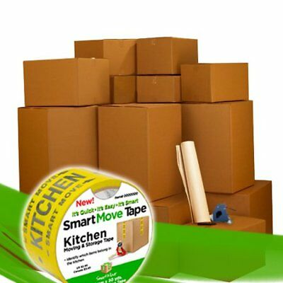 Smart Moving Bigger Boxes Kit 3 - 40 Moving Boxes Packing Supplies W