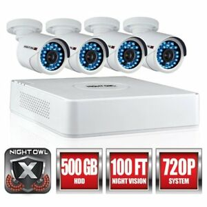 Night Owl's 4 Channel 720p HD Video Security System with 4 x 720