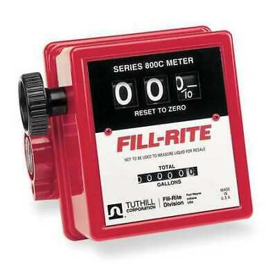 Fill-rite 807cn1 3-wheel Nickel-plated Mechanical Fuel Transfer Meter 5-20 Gpm.